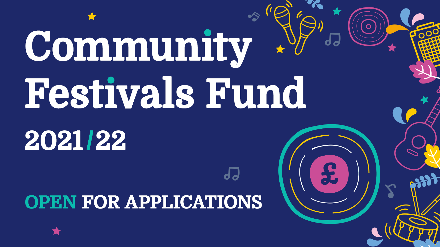 Our Community Festivals Fund is now open for applications!
