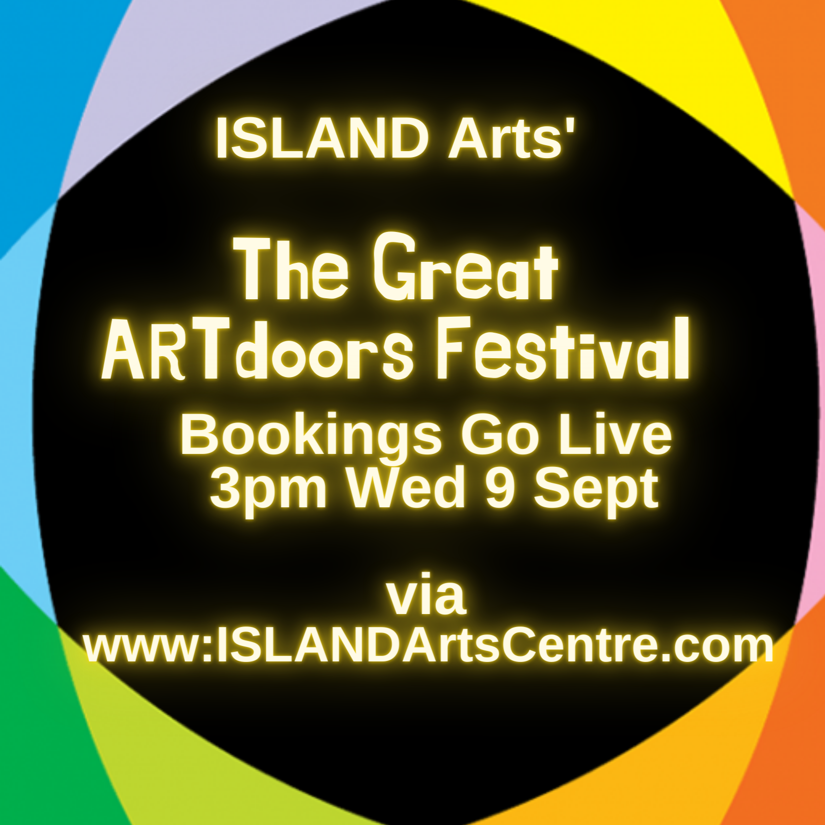 ISLAND Arts' Great ARTdoors Festival Goes Live Today at 3pm via www.ISLANDArtsCentre.com