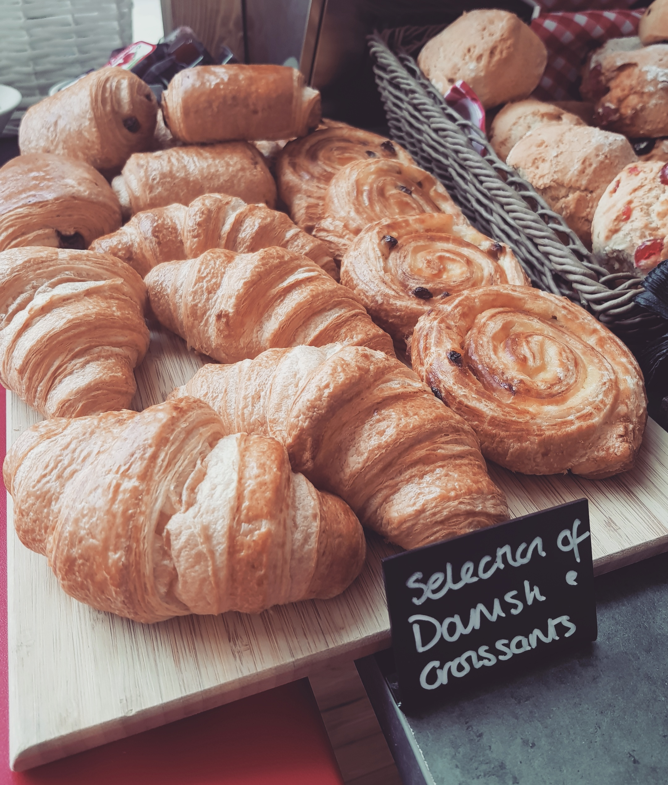 Fresh Selection of Danish Croissants at Coffee Dock